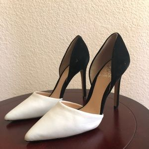 Vince Camuto high heel pump.  Black and white